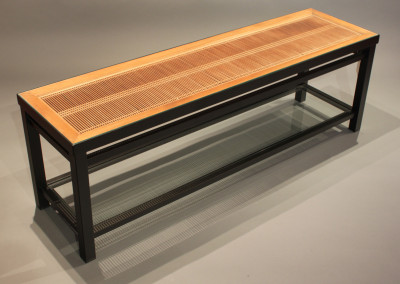 Kumiko Ranma Coffee Table with Shelf