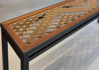 Kumiko Ranma Console Table Detail