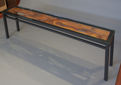 Large Natural Ranm Console Table