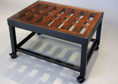 Rolling Coffee Table with Shelf