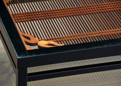 Tokyo Flame Coffee Table Detail
